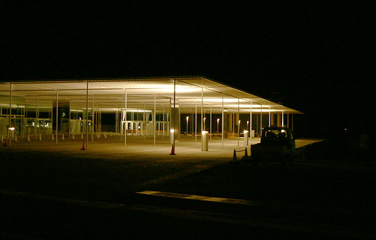 夜の海の駅